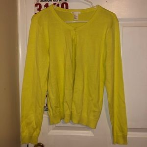 H&M Lime colored Cardigan